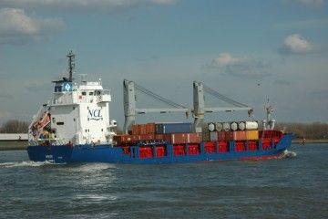 """Este es el buque """"Southwester"""", hundido en la costa de Portugal"""