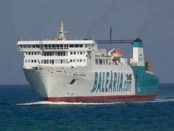 """El buque """"Pau Casals"""", en la etapa en la que cubrió al línea Valencia-Palma"""