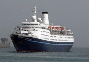 """El buque """"Marco Polo"""", en una de sus escalas en Santa Cruz de Tenerife"""