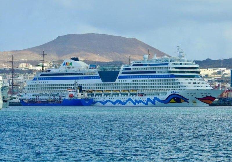 """El buque """"AIDAmar"""" se encuentra desde hace semanas en el puerto de Las Palmas de Gran Canaria"""