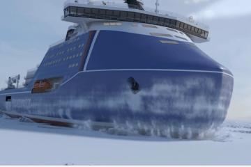 """Este será el aspecto exterior del futuro rompehielos """"Rossiya"""""""