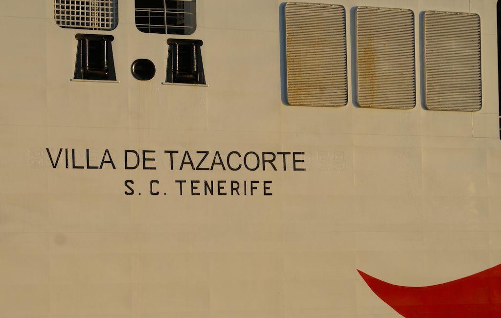 """""""Villa de Tazacorte"""", matrícula naval de Santa Cruz de Tenerife"""