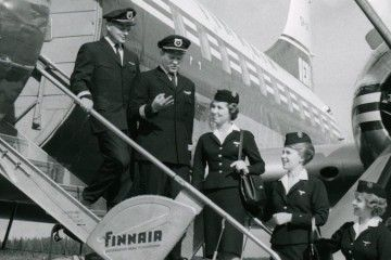 Uma imagen de Finnair en la década de los sesenta