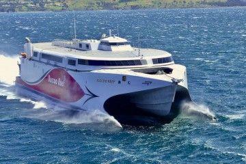 """El catamarán """"Buccoo Reef"""", en pruebas de mar"""