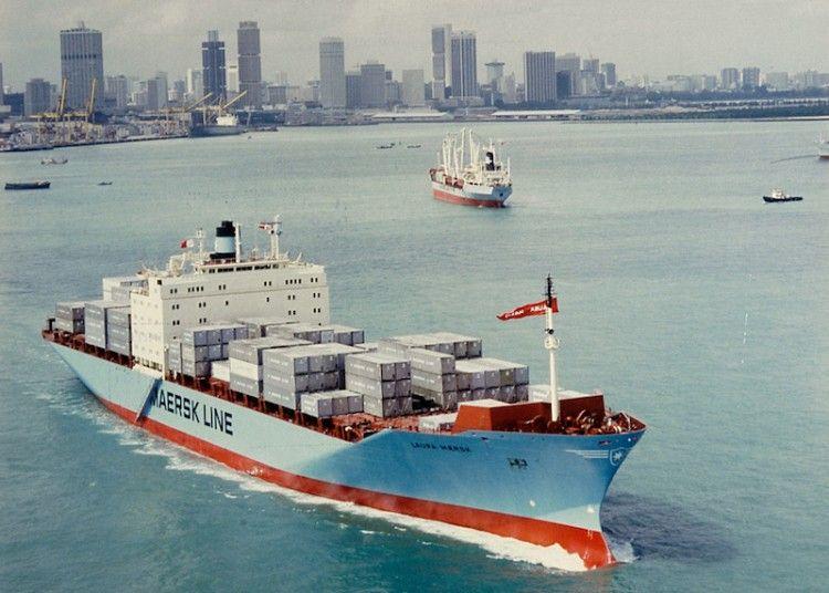 """Estampa marinera del buque """"Laura Maersk"""""""