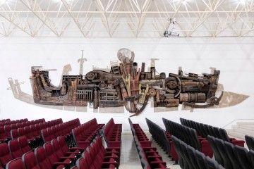 """""""Anatomía de un barco"""" (1966), mural de César Manrique en la Escuela de Náutica de Tenerife"""