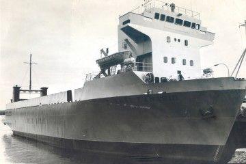 """El buque """"Puente Canario"""", en Las Palmas de Gran Canaria, recién llegado de Mallorca"""