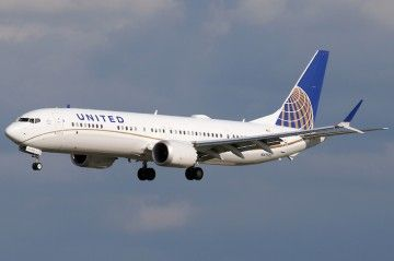 Boeing B-737 Max-9 de United Airlines