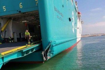 """El golpe en la aleta de estribor del ferry """"Bahama Mama"""""""