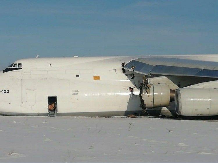 El avión se salió de la pista y se paró 200 m después
