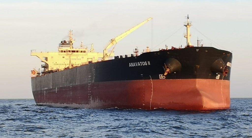 """El petrolero """"Anavastos II"""", fondeado en el puerto de Santa Cruz de Tenerife"""
