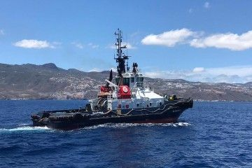Uno de los remolcadores de Boluda en servicio en Puertos de Tenerife