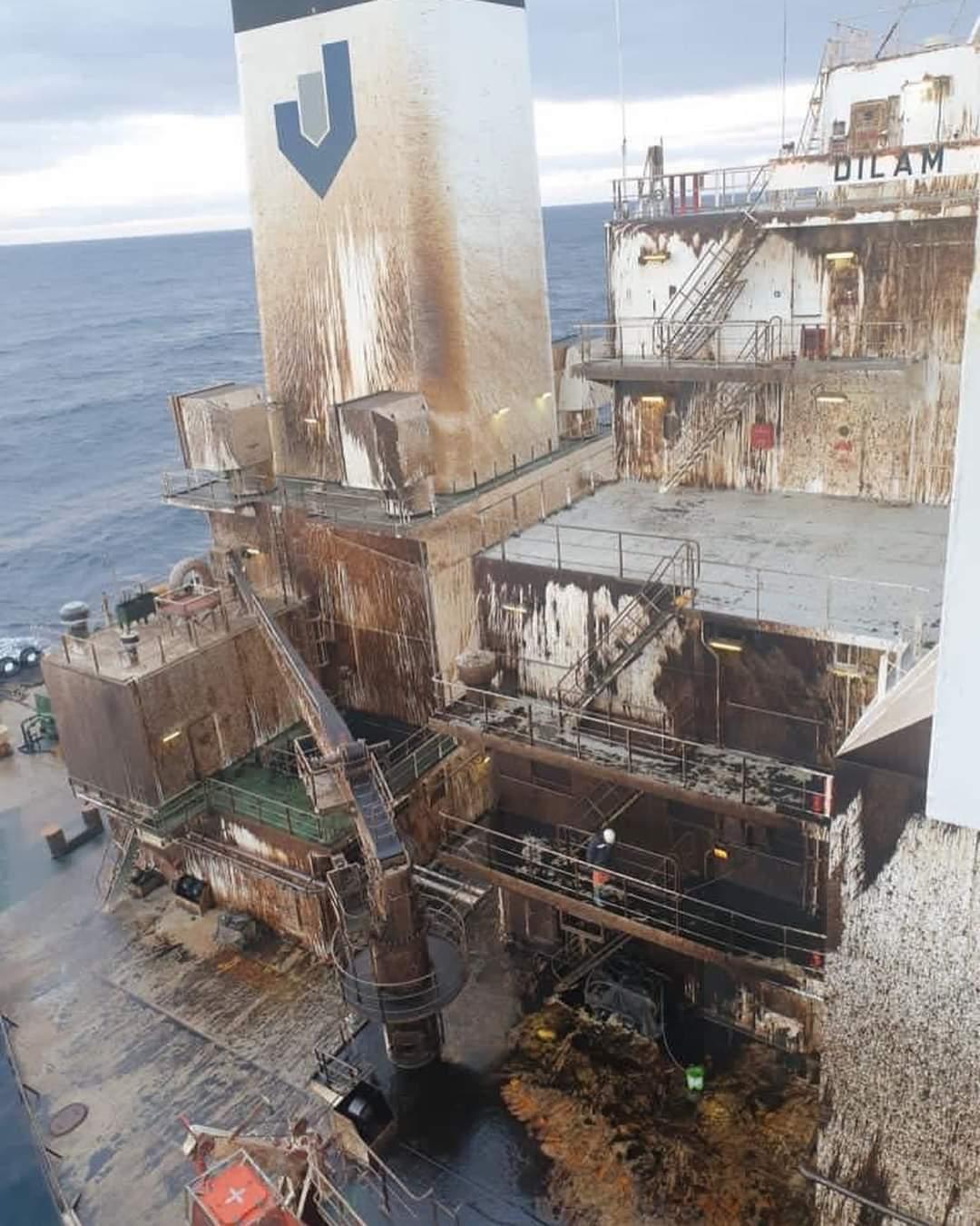 Otra imagen del daño causado