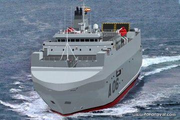 El buque será pintado de gris naval y operado por la Armada