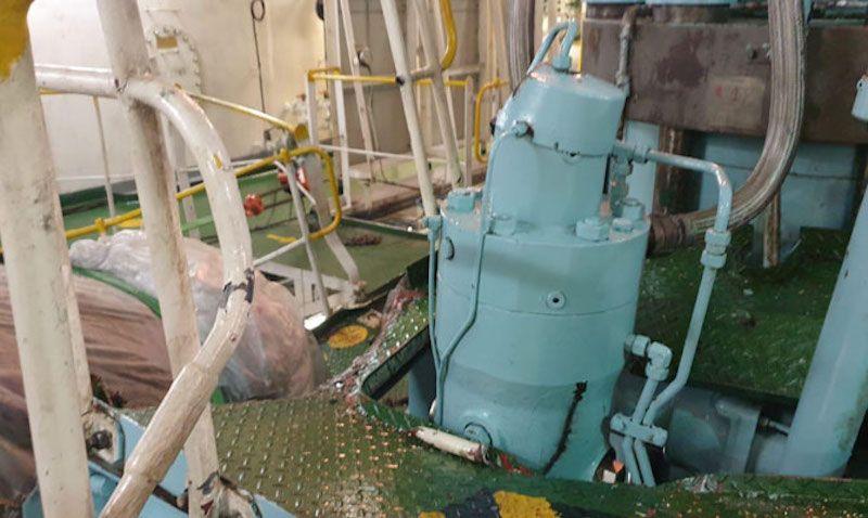Los daños en la sala de máquinas también son considerables