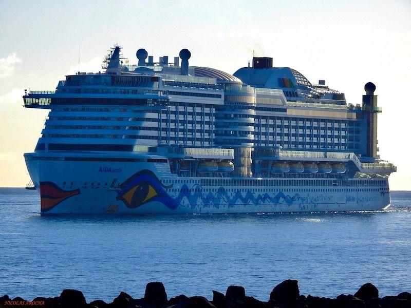 El buque de Aida Cruises ha llegado procedente de Dinamarca