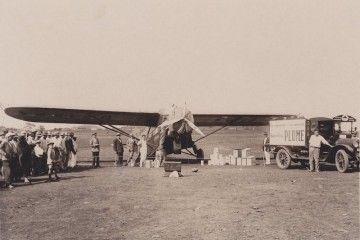 El avión Arado V, en el aeródromo de Los Rodeos