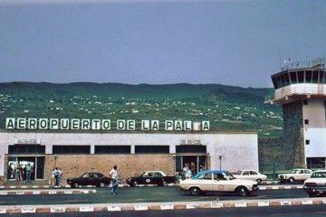 Fachada lado tierra de la primera terminal del actual aeropuerto de La Palma