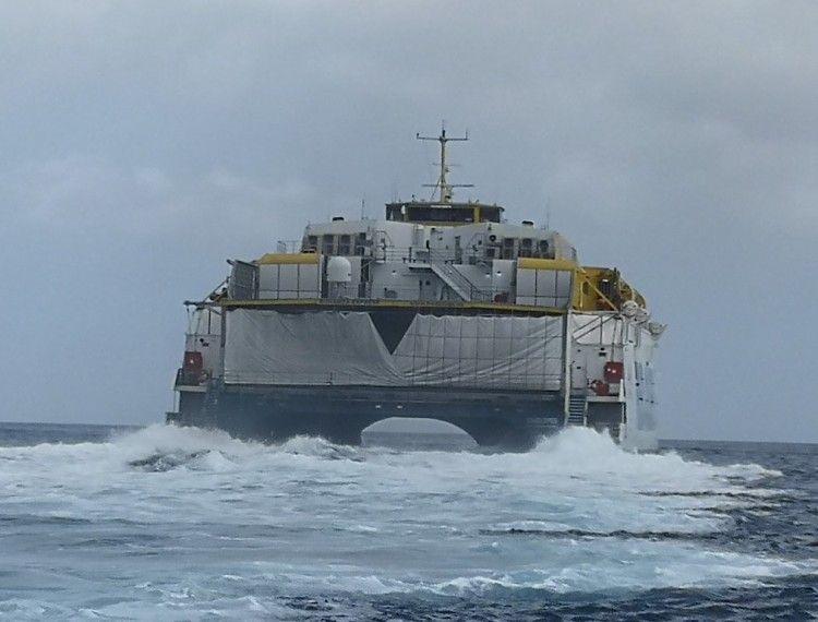 """El catamarán """"Bonanza Express"""" cierra una etapa de 21 años en Canarias"""
