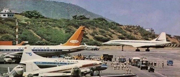 El avión Concorde de Air France en el aeropuerto de Maiquetía