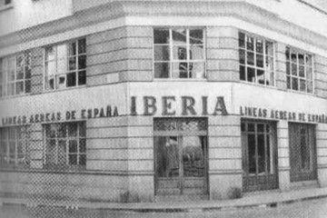 Fachada de las oficinas de Iberia en Santa Cruz de La Palma