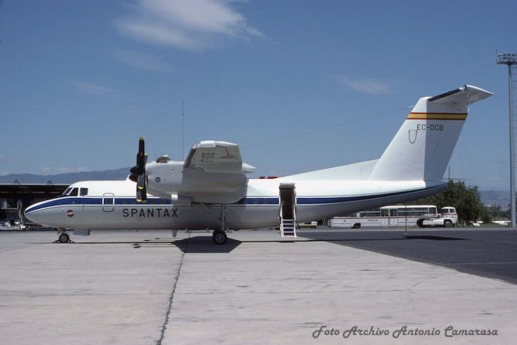 El avión De Havilland DHC-7 de Spantax