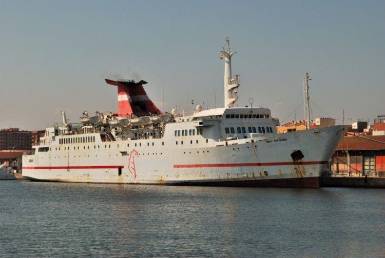 """El buque """"Mary the Queen"""", ex """"Ciudad de Valencia"""", cuando estaba amarrado en Tarragona"""