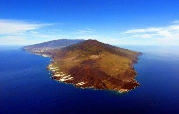 La Palma, vista desde el ángulo sur de Punta Fuencaliente