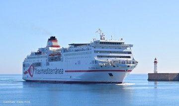 """El ferry """"Ciudad Autónoma Melilla"""", conocido como """"el melillero"""""""