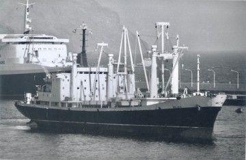 """Maniobra del buque """"Belén"""" en el puerto de Santa Cruz de Tenerife"""
