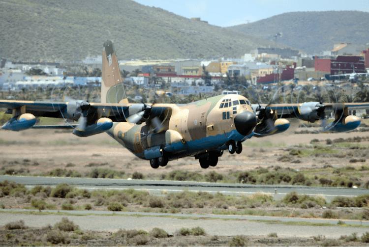 C-130 Hércules del Ejército del Aire en la Base Aérea de Gando