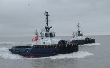 """Los remolcadores """"VB Bolero"""" y """"VB Rumba"""" ya están en el puerto de Zeebrugge"""