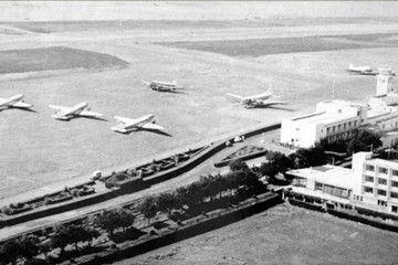 Panorámica del aeropuerto de Los Rodeos en 1958