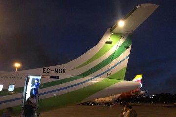 Imagen del avión de Binter EC-MSK, con deficiencias de aire acondicionado