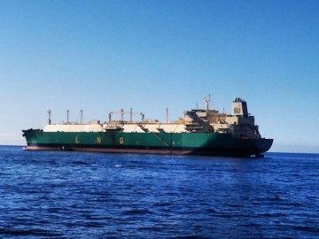 """El buque metanero """"LNG Lagos II"""", en su escala en Santa Cruz de Tenerife"""