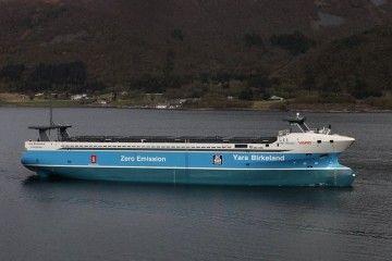 """El buque """"Yara Birkenland"""", primero en su clase a nivel mundial"""