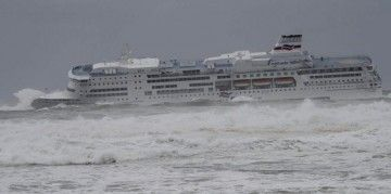 Bandazo a babor en la maniobra de acceso a la bahía de Santander