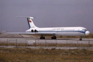 Il-62M de Aeroflot en el aeropuerto Madrid-Barajas