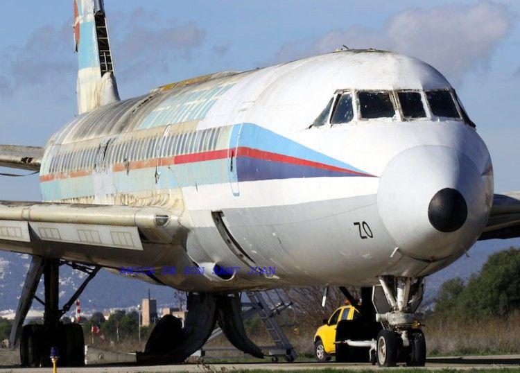 Estado en el que se encuentra el avión CV 990A Coronado de Spantax