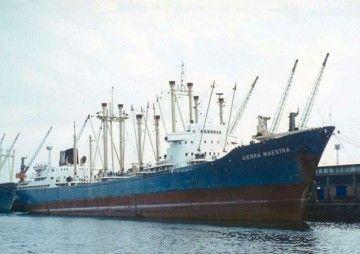 """Estampa marinera del buque """"Sierra Maestra"""""""