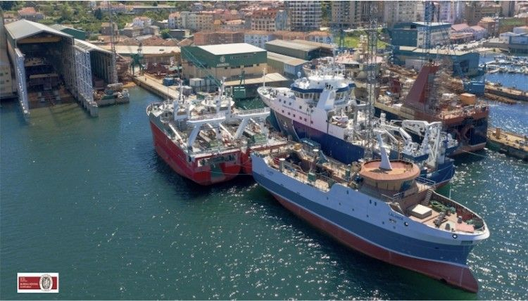 Panorámica de la factoría de Astilleros Armón en Vigo