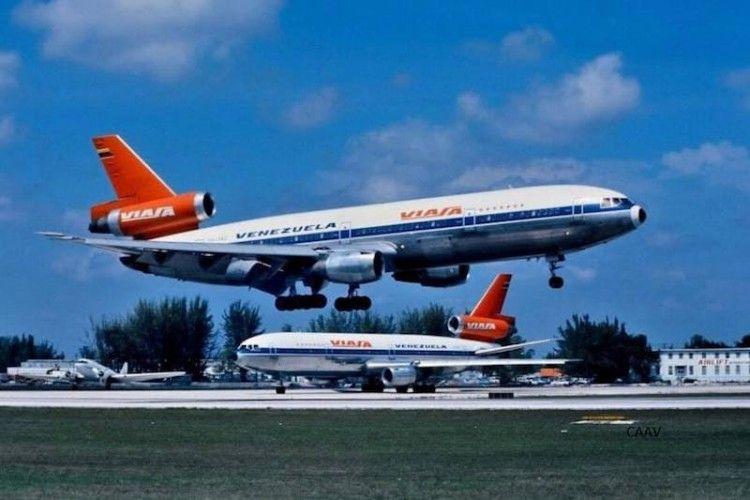 Doa aviones DC-10 de VIASA coinciden en el aeropuerto de Miami