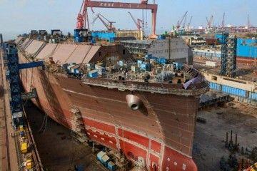 Construcción de un buque metanero