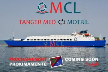 Anuncio de MCL para la línea Tánger Med-Motril