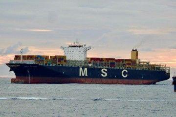 """El buque """"MSC Flavia"""", en el fondeo de Las Palmas de Gran Canaria"""