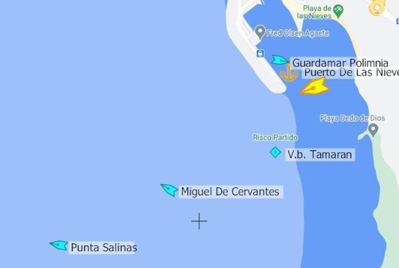 Situación en el ,puerto de Agaete