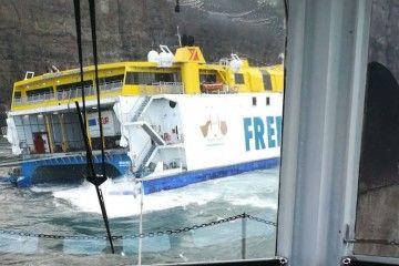 """Vista de aleta de estribor desde el remolcador """"VB Canarias"""""""