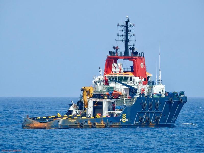 """El remolcador de salvamento """"VB Hispania"""", fondeado en Las Palmas de Gran Canaria"""