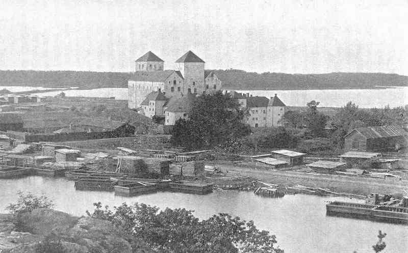 El castillo de Turku, en torno a 1900
