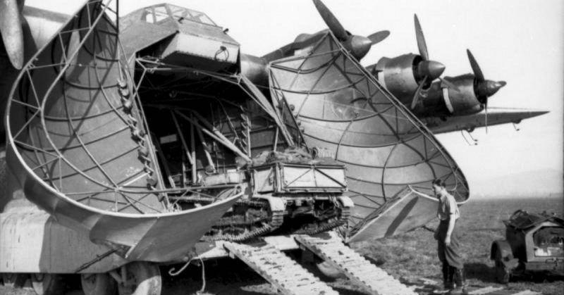 El avión tenía el cometido del trasporte de vehículos pesados